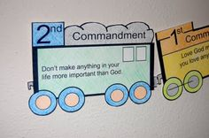 Fun way to learn 10 Commandments at Sunday School