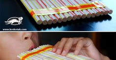 All you need are straws and tape for this fun DIY musical instrument for blowing and oral motor practice