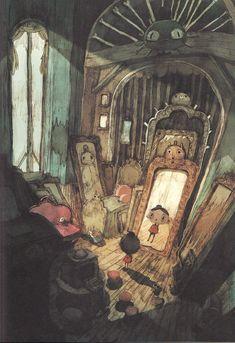 Beautiful 'Pinocchio' #illustration by Jérémie Almanza #inspiration #storybook