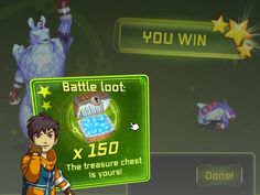 8. When you win, you rock! You not only get a higher rank, but the battle loot is yours!