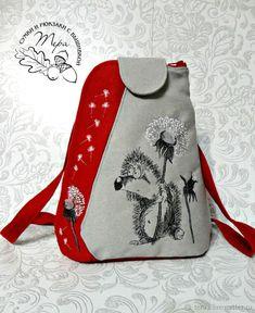 bf51d4872fe1 Рюкзаки ручной работы. Ярмарка Мастеров - ручная работа. Купить Рюкзак  текстильный Мой еж с