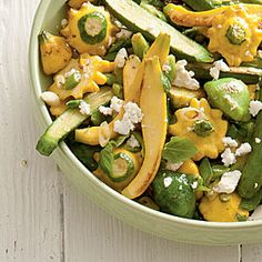 Sautéed Baby Squash and Leeks - Spring Farmer's Market Recipes - Southern Living Leek Recipes, Vegetable Recipes, Vegetarian Recipes, Healthy Recipes, Healthy Dinners, Summer Squash Recipes, Spring Recipes, Baby Squash, Vegetables For Babies
