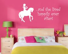 Girls+Horse++And+She+Lived+Happily+Ever+After++par+greatwallsoffire,+$24.00
