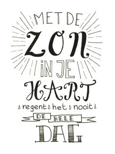 Gemaakt door Jiska van Sterrig Handwritten Quotes, Hand Lettering Quotes, Dutch Quotes, Write It Down, Inspirational Gifts, Positive Vibes, Cool Words, Slogan, Quotes To Live By