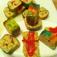 Rice Krispie Sushi - for a classroom birthday treat.