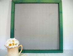 Huge Wooden Rustic Window Screen Shelf Chippy by DivineOrders