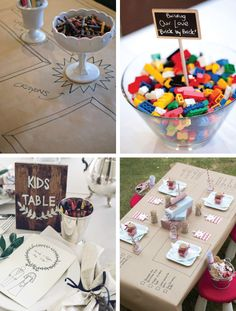 Cover the kids craft table in brown kraft paper.  They can then write on the table and it not hurt the table.