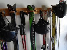 10 Snow Ski Storage Rack by WillowHeights on Etsy, $50.00
