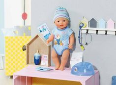 BABY born® Interactive Boy 9 Year Old Christmas Gifts, Interactive Baby Dolls, Barbie Car, Zapf Creation, Boy Doll, Baby Play, Eat Sleep, Mother And Child, Kids