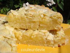 Gâteau crumble citron amandes