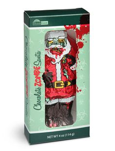 The Undead Chocolate Santa Claus Makes for a Scary Little Christmas trendhunter.com
