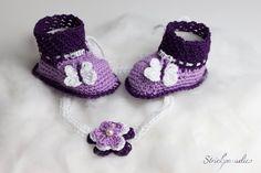 Schmetterlingen -Babyschuhe mit Namen _06 von Strickparadies auf Etsy