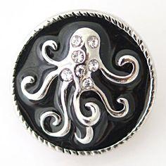 Octopus on Black Enamel