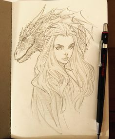 Deadlines have started up again and moving out of the apartment at the same time. This month should be fun. Enough time to sneak in a quick-ish sketch. Daenerys Targaryen Art, Khaleesi, Drawing Sketches, Art Drawings, Realistic Cartoons, Beautiful Fantasy Art, Game Of Thrones Art, Mother Of Dragons, Illustrator Tutorials