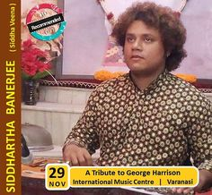 """A #Tribute to the """"#Quiet #Beatle"""" with the #Siddha #Veena!  Catch #Localturnon artist #Siddhartha #Banerjee play the #Siddha #Veena in a Tribute Concert to #George #Harrison (The #Beatles) at the #International #Music #Centre, #Varanasi - 29th Nov !  #turn #on #music    #turnOn #Happiness    turnOn #life !"""