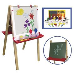 Easel With Small Paint Crate Set