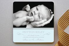 Sweet Sophistication Birth Announcements by Paper Dahlia at minted.com