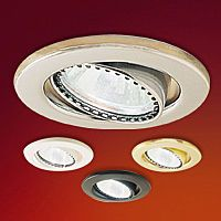Mini Halogen Surface Eyeball Trim  This fixture, lamp and integral trim swivel allow directional control of the light beam.  Adjusts 20º  The Mini Halogen Downlight offers various color filters, spread lenses and electronic transformers.  Regular price: $28.00 Sale price: $19.99