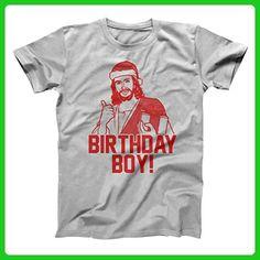 Birthday Boy Jesus Christ Funny Christmas Xmas Party Celebrate Merry Happy Humor Mens Shirt XXX-Large Gray - Holiday and seasonal shirts (*Amazon Partner-Link)