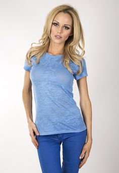 """Ladies burnout short sleeve crew. www.jsapparel.net  Enter special code """" JSFRIENDS """" and get 20% off on purchase. Limited time only."""