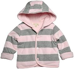 1ee262ec7 See more. Burts Bees Baby Girls Stripe Reversible Hooded Jacket Blossom  Newborn * Want additional info? Click