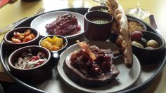 "Individual ""Tasting Tapas"" meal at Poppy in Seattle, Washington"