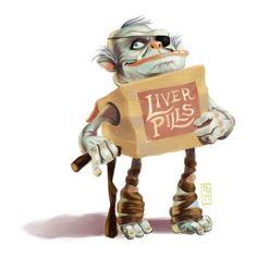 Tim Beard: I drew a proud, old Boxtroll for #Sketch_Dailies. Meet Liver Pills. @Sketch_Dailies @TheBoxtrolls