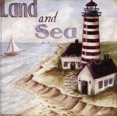 Light house - land and sea