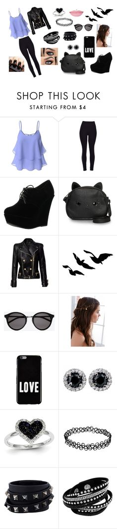 """""""date outfit"""" by jack-skellington309 on Polyvore featuring Doublju, Forever Link, Loungefly, Balmain, Yves Saint Laurent, REGALROSE, Givenchy, Kevin Jewelers and Valentino"""
