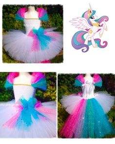 Princess Celestia My Little Pony Inspired tutu dress - dressing up costume in Clothes, Shoes & Accessories, Fancy Dress & Period Costume, Fancy Dress My Little Pony Dress, My Little Pony Costume, My Little Pony Birthday, My Little Pony Party, Unicorn Halloween, Unicorn Costume, Halloween Kostüm, Halloween Costumes For Kids, Diy Tutu