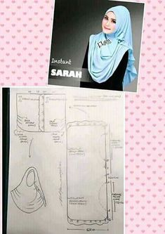 Jilbab instan Clothing Patterns, Sewing Patterns, Fashion Terminology, Instant Hijab, Clothing Store Displays, Modele Hijab, Hijab Collection, Pantalon Large, Muslim Hijab