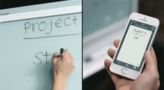 Smart whiteboard syncs meeting notes to any device in real time via SMART kapp. Love it!!