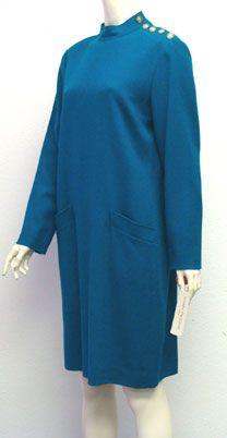 NWT 80s Wool Vintage Dress