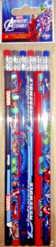 Marvel Avengers Assemble Travel Fun Kit Set Sketch Stickers Notepad Stamp Marker