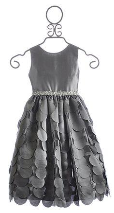 Susanne Lively Little Girls Silver Dress Flutter Skirt $99.00