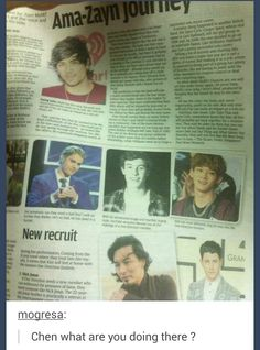 CHEN IS IN AN ARTICLE ABT WHO COULD REPLACE ZAYN IN ONE DIRECTION HAHA IM DEAD #Chen #EXO #EXO-M