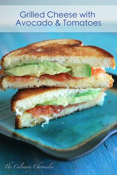 Grilled Cheese with Avocado & Tomatoes