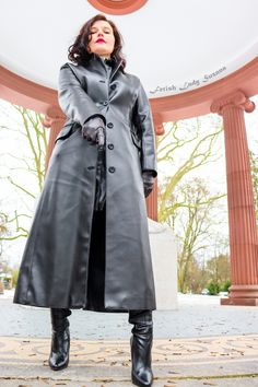 Long Leather Coat, Leather Gloves, Mistress, Sexy Outfits, High Boots, Trench, Raincoat, Jackets, Fashion