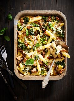 Casserole with tuna and broccoli