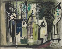 ALONGTIMEALONE Charles Demuth, Victor Pasmore, Coventry Cathedral, John Piper, Isle Of Wight, Gouache, Home Deco, Printmaking, Watercolor Art