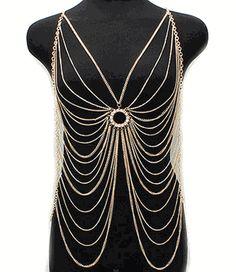 Body jewelry - Body chain armour  F-in hot