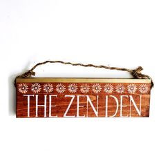Zen Den /  Buddha sign / beautiful / anthropologie/ urban outfitters/ brandy melville  / wall hanging / decor / art / gift / wholesale by SeaGypsyCalifornia on Etsy https://www.etsy.com/listing/229010673/zen-den-buddha-sign-beautiful