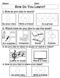 Multiple+Intelligences+Survey:+How+Do+You+Learn?+from+Completely+Kindergarten+on+TeachersNotebook.com+-++(3+pages)++-+A+student+survey+to+determine+the+best+ways+each+student+learns More More