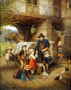 Fritz Beinke~ German Painter, 1842-1907
