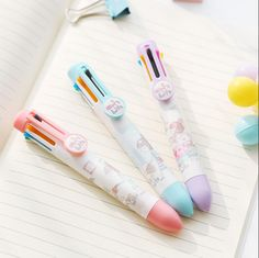 1Pcs New Cute Little Girl 8 Colors Chunky Ballpoint Pen School Office Supply Gift Stationery H1228 TIAMECH