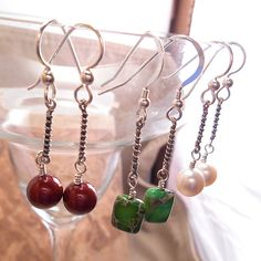 Sterling Silver Twisted Bar Dangle Earrings in a by ByEJewelry, $24.00