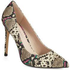 Kg Kurt Geiger Bailey Snakeskin Heels ($93) ❤ liked on Polyvore featuring shoes, pumps, beige, beige pumps, high heel pumps, sexy high heel pumps, snake skin pumps and snakeskin print shoes