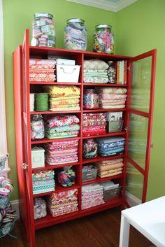 My fabric cabinet inside.