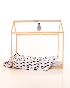 Children's Furniture – 90 x 140 cm  WITH SLATS kids bed frame house wood – a unique product by meiddeco on DaWanda