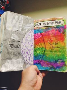 contrast of the brain hemispheres